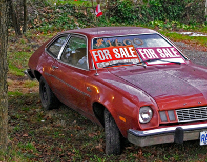 Urban spaces: a car for sale