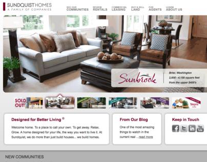 Sundquist Homes Website