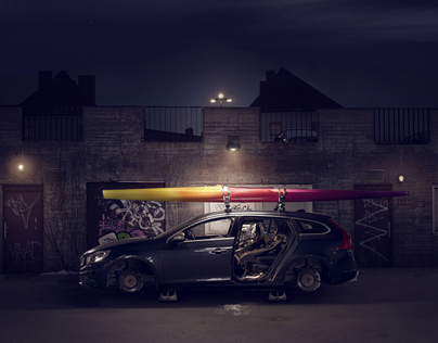 Stripped car // C R E A T I V E R E T O U C H
