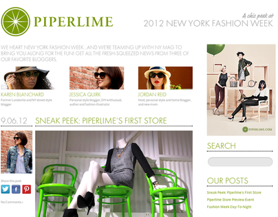 Piperlime 2012 NY Fashion Week Blog