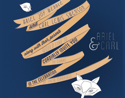Ariel & Carl Wedding Invites