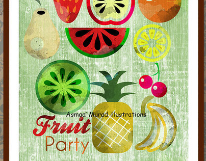 Fruit party illustration
