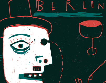 BERLIN BABYLON   block print