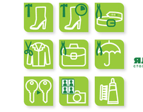 Icons for repair shop services