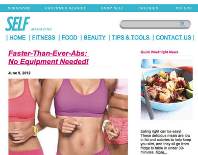 Self Magazine - Website Design