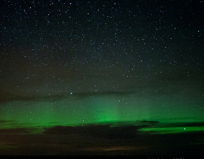 Aurora Borealis over Holy Island