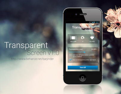 Transparent Screen App