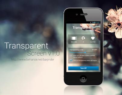 Transparent Screen App