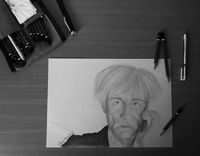 Andy Warhol Graphite Portrait