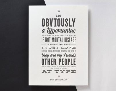 Typomaniac poster