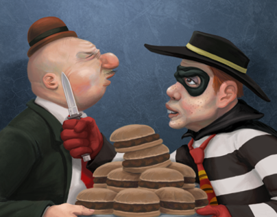 Wimpy vs. The Hamburglar