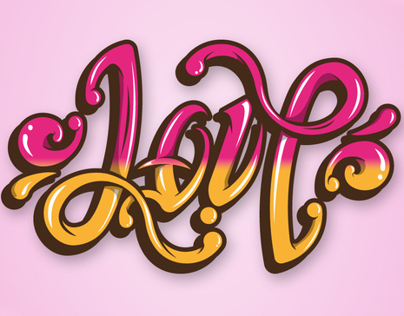 Love is Life Ambigram