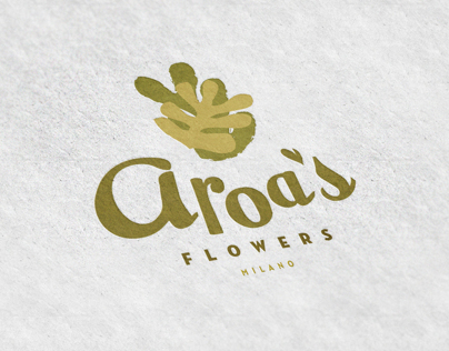 Aroa´s. Flower shop branding