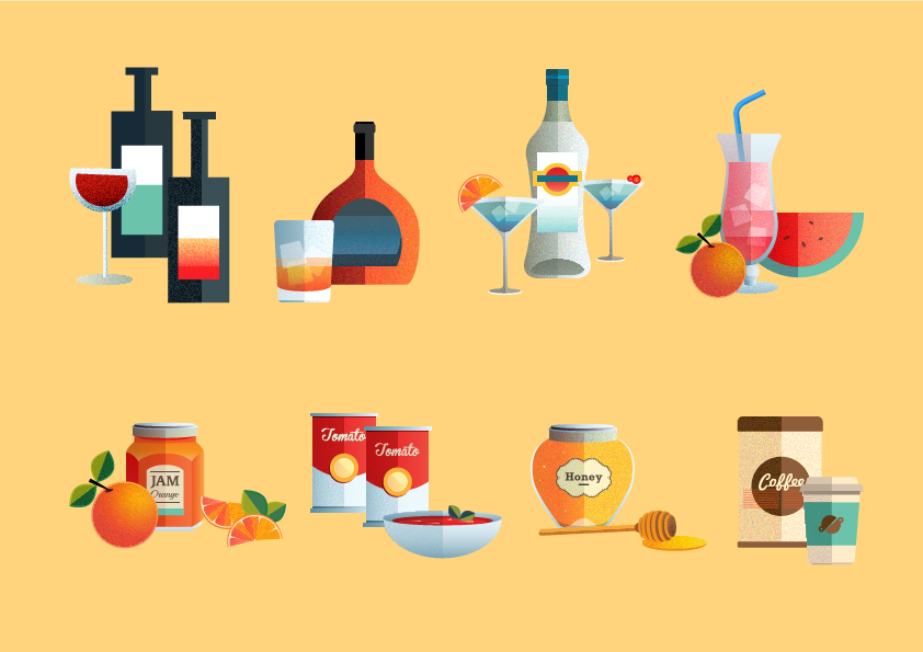 ICONS & EDITORIAL ILLUSTRATIONS 2013/2014