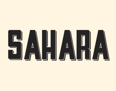 Sahara font (free)
