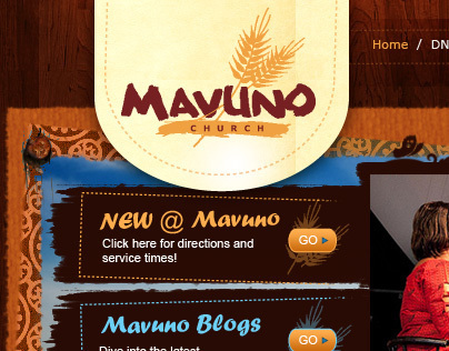 Mavuno Church Website Design