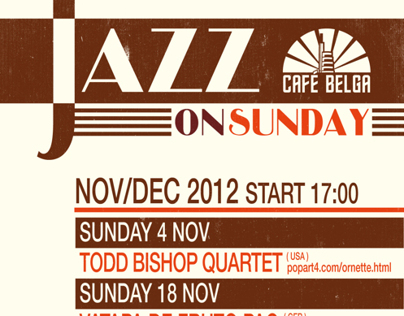 JAZZ ON SUNDAY - Café Belga