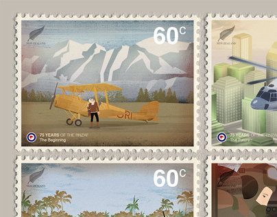 New Zealand Stamps / Illustration