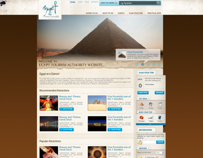 Egypt Tourism Authority (web & mobile)
