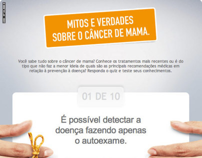 Aba Facebook - Quizz Câncer de Mama - Unimed-BH