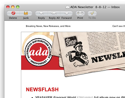 ADA Newsletter MailChimp Template