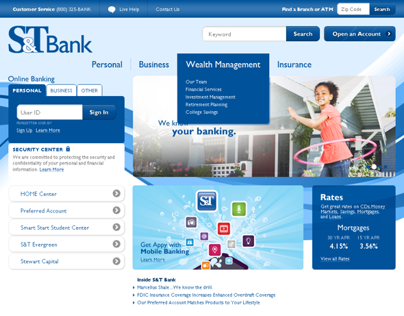 Responsive Web Redux for a Regional Bank