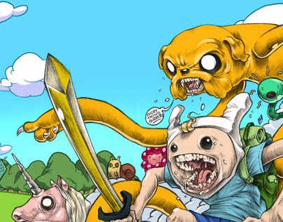 THE ADVENTURE TIME REMIX ART PRINTS