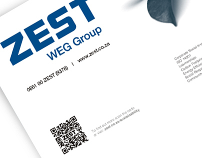 Zest WEG Group Sustainablity Advertisement