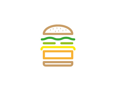 McDo : burgers & Wrap pictograms