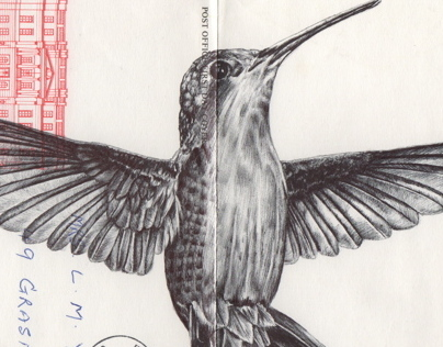 Bic Biro on 1977 envelope