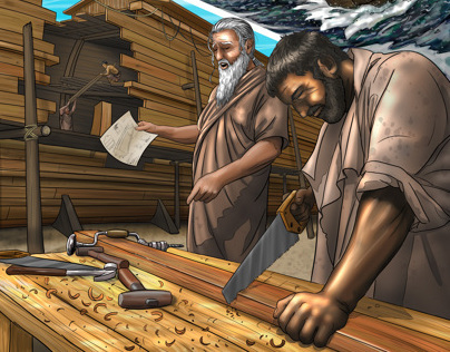 Noah Building the Ark