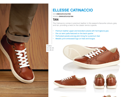 ellesse Italia AW12 footwear catalogue