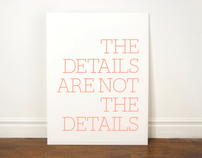 The Details Are Not The Details
