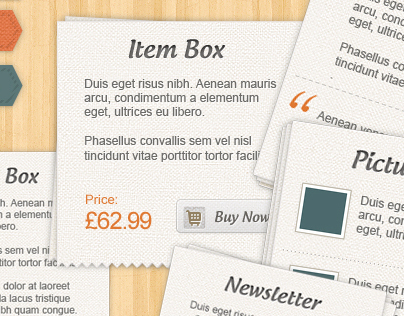 Craft Shop - Retail Web Elements