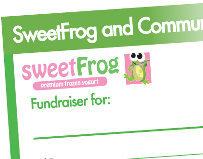 Sweet Frog Design Work