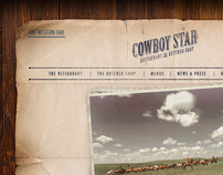 The Cowboy Star: Website Design