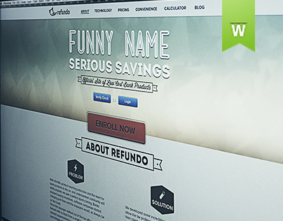 Refundo website design proposal