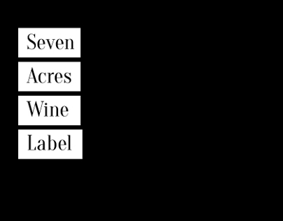 Figula Winery - Seven Acres Wine Label and Package