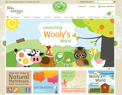 The Little Green Sheep Website Reskin