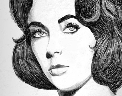 Elizabeth Taylor Illustration