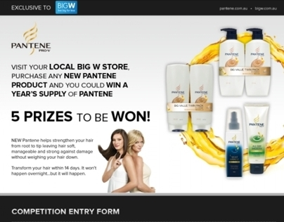 Pantene Competition Form