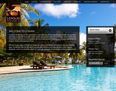 Lomani Island Resort Website