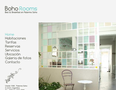 Boho rooms website design