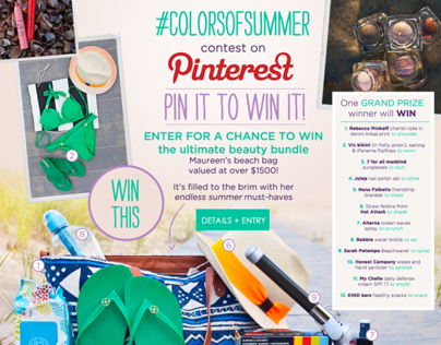 #colorsofsummer contest on Pinterest