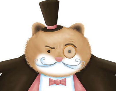 Gentleman Hamster Character Illustration