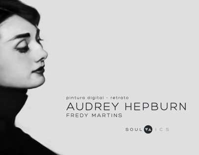 Digital Portrait - Audrey Hepburn