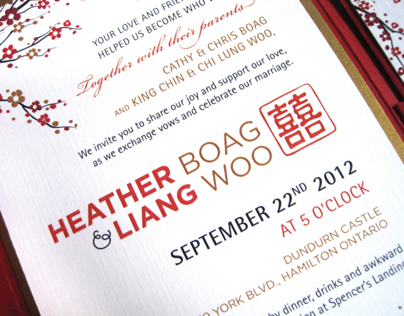 Heather & Liangs Wedding Invitation Design