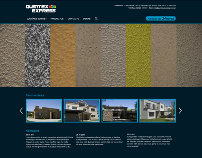 Quimtex Express — Website