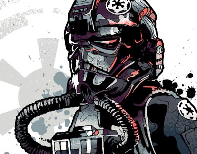 All new Star Wars / Addict clothing illustrations