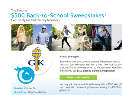 Eyeona - Golden Key Sweepstakes
